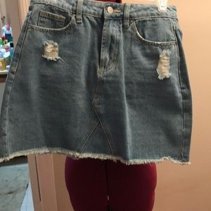 New with tags nasty girl distressed skirt